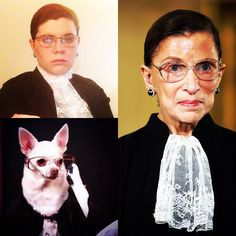 Justice Ruth Bader Ginsberg for Women & Puppies #RBG #Costumes #Halloween #Purim