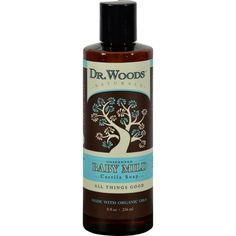 Dr. Woods Naturals Castile Liquid Soap - Baby - 8 fl oz - Very mild, moisturizing and versatile for everyday use as a body wash, facial cleanser, shampoo, and bath soak. Originating from Castile, Spain, soaps are vegetable based, containing no animal fat. They are natural and biodegradable, perfect for consumers who care about the environment. Castile Soap contains olive oil, giving it natural healing properties and the ability to attract moisture and hold it close to the skin to form a…