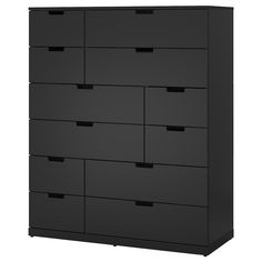 NORDLI chest - anthracite - IKEA trousers trousers for drawers Ikea Chest Of Drawers, 8 Drawer Dresser, Large Drawers, Dressers, Nordli Ikea, Hemnes Bookcase, Painted Drawers, Ikea Family, White Chests