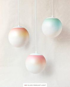 How to make ombre lighting pendants!