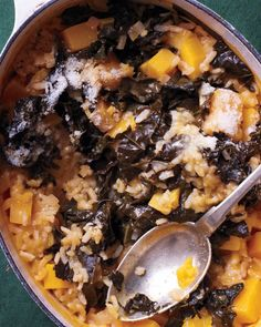 Butternut Squash Baked Risotto - 1 pot 1 hour ( Dutch oven ) * cut up squash earlier & place in baggies in fridge for prep work