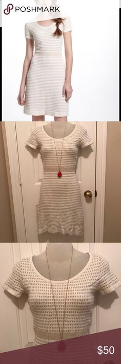 b48dd85724 Shop Women s Anthropologie White Gold size S Dresses at a discounted price  at Poshmark. Description  Sparrow Anthropologie Gilt Grid Sweater Dress  Sold by ...