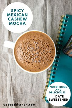 This healthy and spicy Mexican cashew mocha is made with a base of blended cashews and coffee. It's a healthy and energizing morning drink perfect for lazy weekend mornings. Full of minerals and antioxidants to get your day started on the right foot. Smoothie Drinks, Healthy Smoothies, Smoothie Detox, Detox Drinks, Healthy Kale Chips, Homemade Apple Juice, Cold Oats, Morning Drinks, Mexican Breakfast Recipes