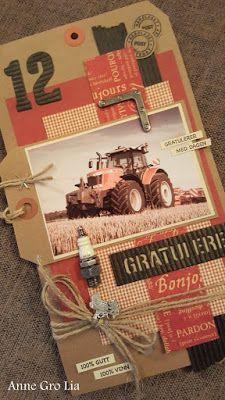 min lille scrappe-verden:  Traktor tag til en bursdagsgutt