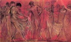 'Ο χορός των μουσών' του Νικολάου Γύζη, Nicholaos Gysis 'The dance of the Muses'.