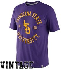 Nike LSU Tigers Rewind Football Tri-Blend T-Shirt - Purple