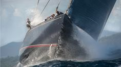 Best sailing photos. Photo by Ricardo Pinto. A glorious blue sky is almost entirely filled by this monstrous 129-foot yacht, with its hard-working crew toiling on a big wave on an upwin...