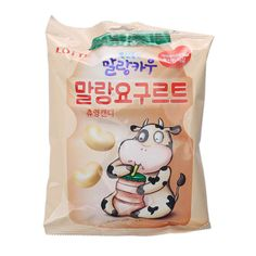 Yogurt Malang Cow Soft Chewing Candy - Weight : It's like a marshmallow, Yogurt Flavor. It is very popular soft candy here in Korea and sweet snacks ! Yummy Snacks, Snack Recipes, Gluten Free Puff Pastry, Asian Snacks, Creole Recipes, Korean Food, Clean Eating Snacks, Japanese Food, Malang