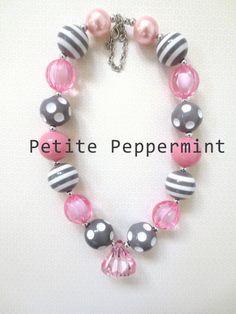 Girls Chunky Necklace, Girls Bubblegum Chunky Necklace, Pink Chunky necklace,Girls Bubble Gum Bead Necklace,Children Necklace on Etsy, $6.95