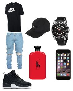 """""""black out"""" by shavar-khailq-geddis ❤ liked on Polyvore featuring NIKE, Gucci, Ralph Lauren, men's fashion and menswear"""