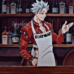 Seven Deadly Sins Anime, 7 Deadly Sins, Hot Anime Boy, Anime Guys, Ban And Elaine, Ban Anime, Anime Love Story, Future Wallpaper, Anime Characters