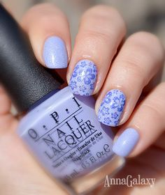 Anna Galaxy: Стемпинг. Плитка Lesly L-13, OPI You are such a Budapest, El Corazon Kaleidoscope IL-5