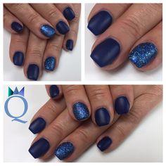 #short #coffinnails #ballerinashape #gelnails #nails #mat #blue #glitter #akyado #kurze #ballerina #form #gelnägel #nägel #matt #blau #yvesswiss #glitzer #nagelstudio #möhlin #nailqueen_janine