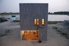 container beach house design by inarchitecten, netherlands Container Architecture, Architecture Company, Container Buildings, Residential Architecture, Amazing Architecture, Creative Architecture, Container Houses, Container Design, House Architecture