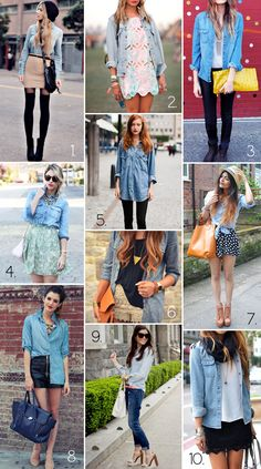 Chambray styling --- I wear mine with just about everything