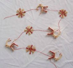 Straw Garland - Goats & Snowflakes (H1-779)