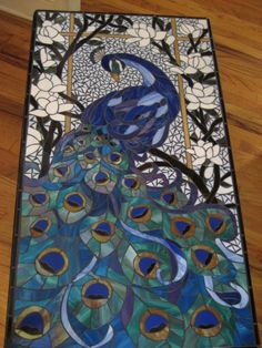 Yaneka and the Wolfe: Peacock Mosaic Coffee Table..