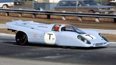 The six-wheel Porsche 917K being driven by Jo Siffert at Daytona in 1970. Composite Fred Lewis photo by Louis Galanos.