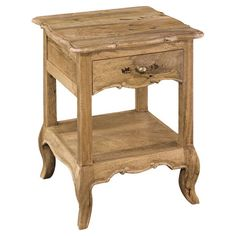 £124.95 With its cabriole legs that nod subtly to French country style and one drawer, this side table is classic addition to your home.