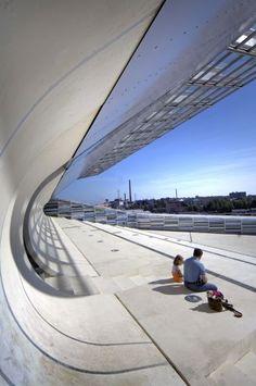 Maritime Centre Vellamo, Kotka, Finland - LAHDELMA & MAHLAMÄKI ARCHITECTS Open Architecture, Architecture Details, Interior Exterior, Exterior Design, Maritime Museum, Architectural Elements, Curiosity, Museums, Curves