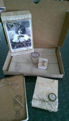Outgoing snailmail. Vintage- craft. Made by me