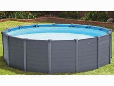 Piscina rotonda Intex Graphite Panel 478xh132cm con accessori