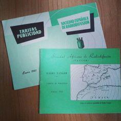 Tesoros que tenemos en el #centrodedocumentacionpublicitaria. Tarifas de publicidad de la SER (1961) y de Radio Tanger (1953). #anunciantescuidalapublicidad