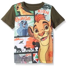 The Lion Guard Toddler Boys Short Sleeve Graphic Tee Disney Junior #YankeeToyBox #LionGuard #Kion #Disney #GraphicTee #KidsClothing