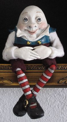 Humpty Dumpty Shadowbox by Lucia Friedericy, Friedericy Dolls at The Toy Shoppe