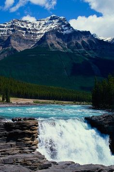 Glacial Waterfall, Jasper National Park, Canada