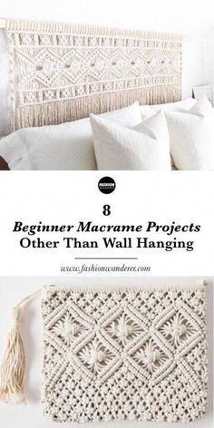 These 8 beginner macrame projects other than wall hanging is THE BEST! From plant hanger, headboard, chair to feather DIY simple and easy tutorial and. 8 Anfänger Makramee-Projekte andere als Wandbehang - Lynne - . Mason Jar Diy, Mason Jar Crafts, Macrame Projects, Sewing Projects, Craft Projects, Sewing Tips, Sewing Art, Sewing Rooms, Craft Tutorials