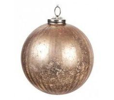 Julekugle Ø7,5 cm Glas - Antik kobber