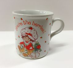 STRAWBERRY SHORTCAKE Coffee Mug Cup 1984 YOU'RE THE BERRIES! American Greetings in Mugs, Cups | eBay