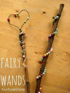 Invite Fairies into your life by making a magic wand - try this project from Nuture Store!