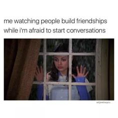 52 Memes Socially Awkward People Will Feel On A Deep, Awkward Level Social Anxiety Memes, Anxiety Humor, Anxiety Quotes, Funny Relatable Memes, Funny Quotes, Relatable Posts, It's Funny, Quotes Quotes, Life Quotes