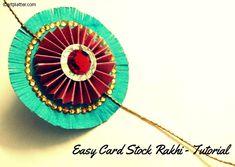 Easy rakhi making craft - with card stock • Art Platter