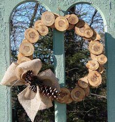 Jeanne's nature-Inspired wood slice wreath
