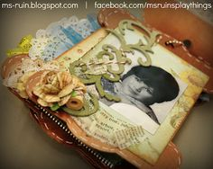 Mother's Day mini book using Maya Road's new spool chipboard album.  See blog for details...