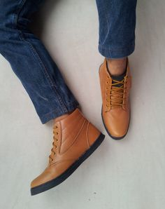 brown leather shoes handmade ankle boots Rangkayo sneakers US 10.5 men unisex