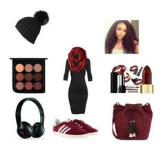 """My sister helped me @stylishsyd"" by aubysawesome ❤ liked on Polyvore featuring Undress, Smartwool, MAC Cosmetics, Loeffler Randall, adidas, Beats by Dr. Dre and Black"