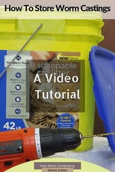 Got Castings? Do you need to store them for awhile? Our video tutorial is just what you need to see. Complete instructions on creating a long-term worm castings storage solution. See for yourself! Organic Gardening Tips, Sustainable Gardening, Red Wiggler Worms, Red Wigglers, Worm Castings, Red Worms, Soil Improvement, Worm Composting, Facts For Kids