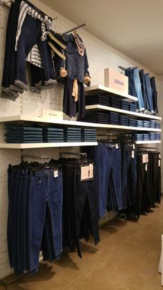 The denim wall ____  marks and spencer wisual merchandising...