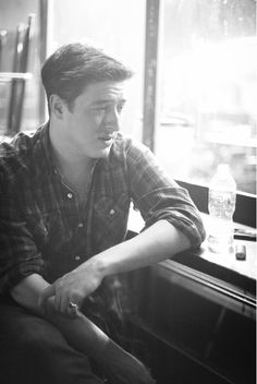 marcus mumford from mumford + sons. totally. his voice makes me crazy. in a good way. :)