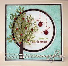 LOVE this Christmas Card & SO LOVE the Tree! ~ Use the MS branch punch for the tree.