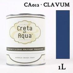 Krijtverf Creta et Aqua  1 Liter  Clavum Jeans Blauw- Verven zonder te schuren.