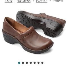 Born Toby Brown Leather Clogs! Women'S Size 9
