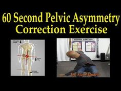 How To Correct Pelvic Imbalance and Uneven Hips at Home - Dr Mandell - YouTube