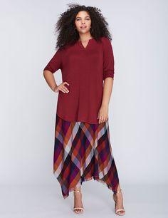 5d751181134fa Fringe Tissue-Hem Skirt by Melissa McCarthy Seven7 Melissa Mccarthy Seven7