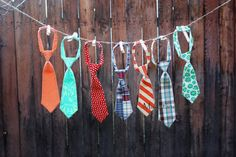 Little boy tie patterns. Darling.
