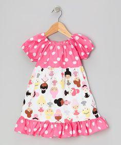 Beary Basics White Ballerinas Patty-Cake Dress - Toddler & Girls by Beary Basics #zulily #zulilyfinds